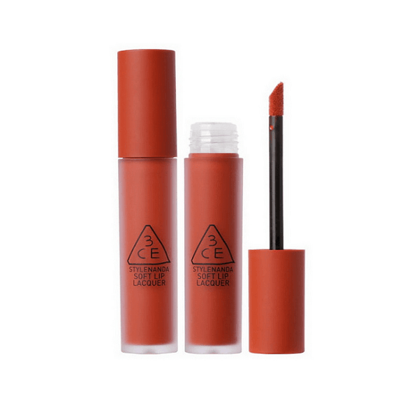 Son Kem 3CE Soft Lip Lacquer Màu Null Set - Đỏ Gạch 1