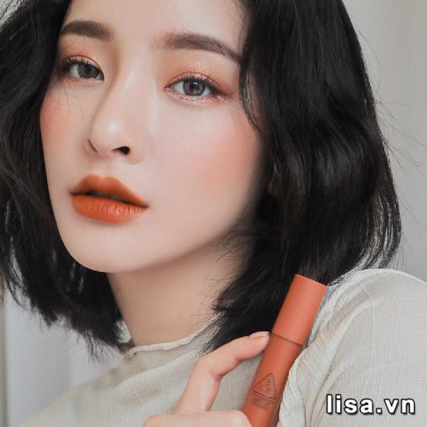 Son Kem 3CE Soft Lip Lacquer Màu Tawny Red - Cam Cháy 4
