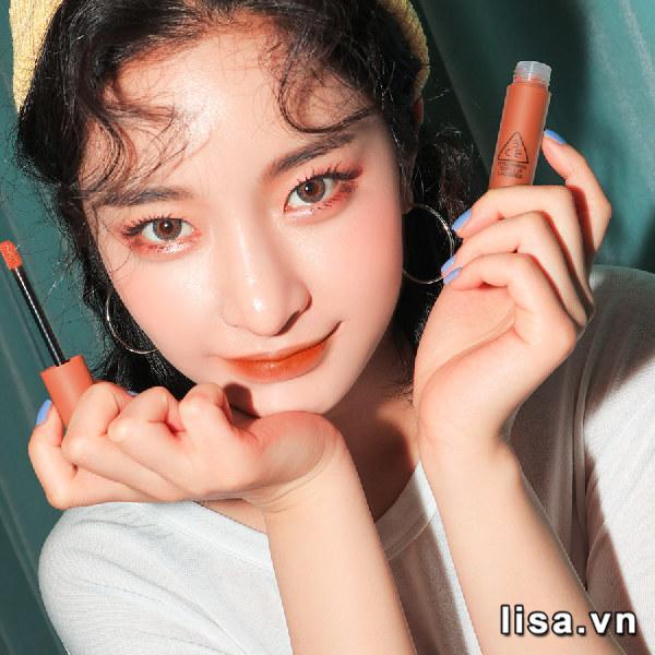 Son Kem 3CE Soft Lip Lacquer Màu Tawny Red - Cam Cháy 5