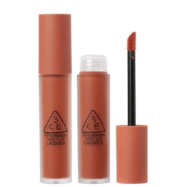 Son Kem 3CE Soft Lip Lacquer Màu Tawny Red - Cam Cháy 1