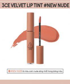 Son Kem Lì 3CE Velvet Lip Tint Màu New Nude - Cam Nude 11