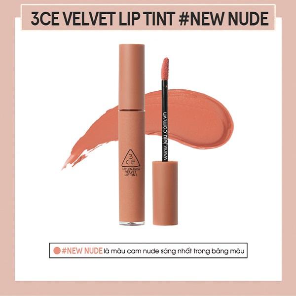 Son Kem Lì 3CE Velvet Lip Tint Màu New Nude - Cam Nude 6