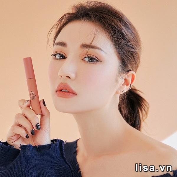 Son Kem Lì 3CE Velvet Lip Tint Màu New Nude - Cam Nude 4