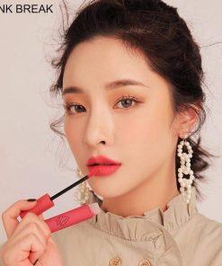 Son 3CE Velvet Lip Tint Pink Break - Hồng đào 6