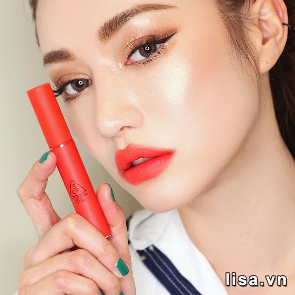 Son Kem Lì 3CE Velvet Lip Tint Màu Save Me - Đỏ Cam San Hô 6