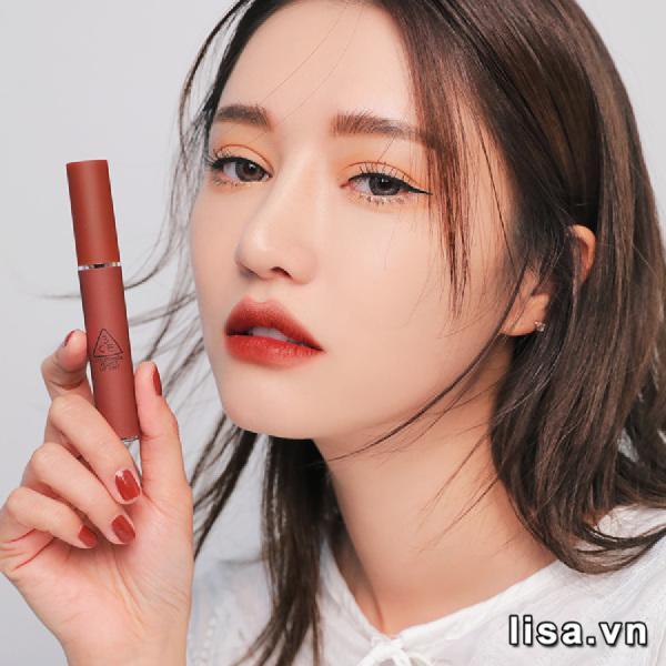 Son Kem Lì 3CE Velvet Lip Tint Màu Taupe - Đỏ Nâu 6