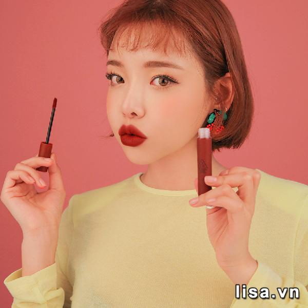 Son Kem Lì 3CE Velvet Lip Tint Màu Taupe - Đỏ Nâu 2