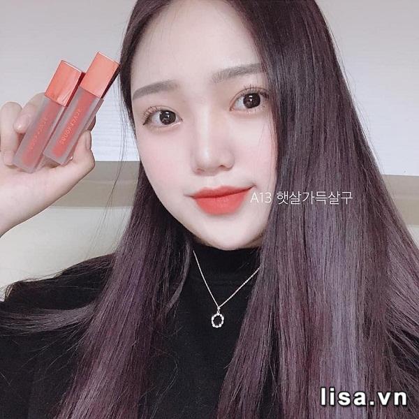 Son Black Rouge Air Fit Velvet Tint Ver 3 Màu A13 Juicy Apricot - Cam Đỏ 3
