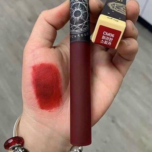 Son Black Rouge CM06 là màu gì? Son có màu đỏ lạnh đầy quyến rũ