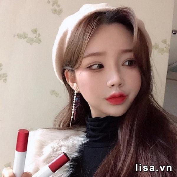 Son Kem Black Rouge Cotton Lip Color Màu T06 Orange Pop - Đỏ Cam 3