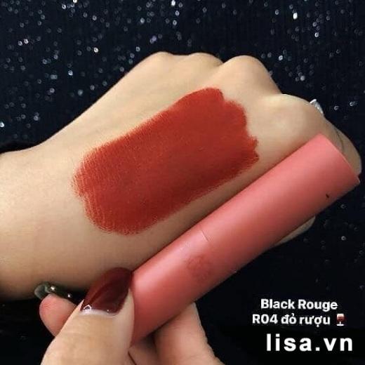 Son Black Rouge R04 Burgundy Rose có chất son lì mịn môi