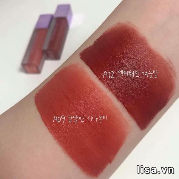 So với mã màu A12, tone cam đất Black Rouge A09 sáng và ít trầm hơn