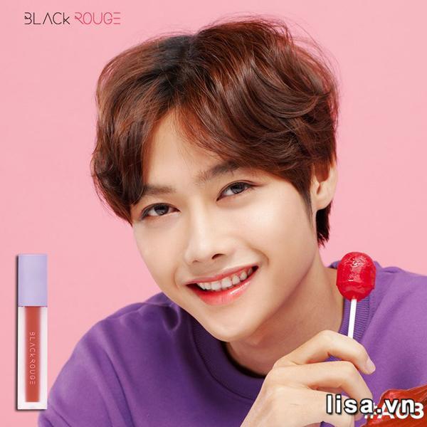 Son Black Rouge Air Fit Velvet Tint Ver 2 Màu A08 Warm Shaddock - Cam Đào 3