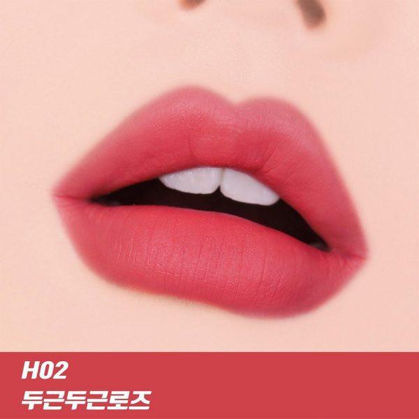 Son Black Rouge Color Lock Heart Tint H02 Adorable Rose - Hồng Khô 3
