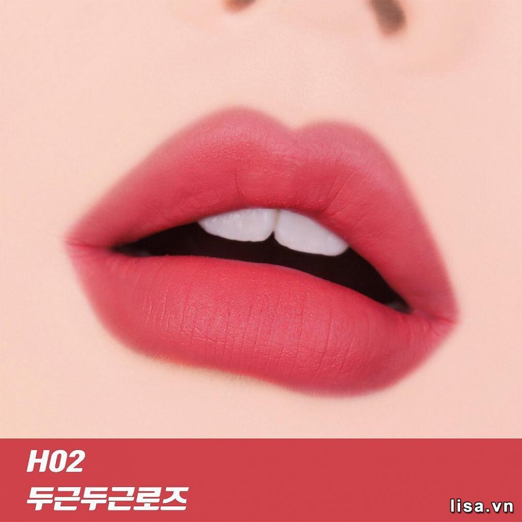 Son Black Rouge Color Lock Heart Tint H02 - Sắc son lên môi ngọt ngào, quyến rũ
