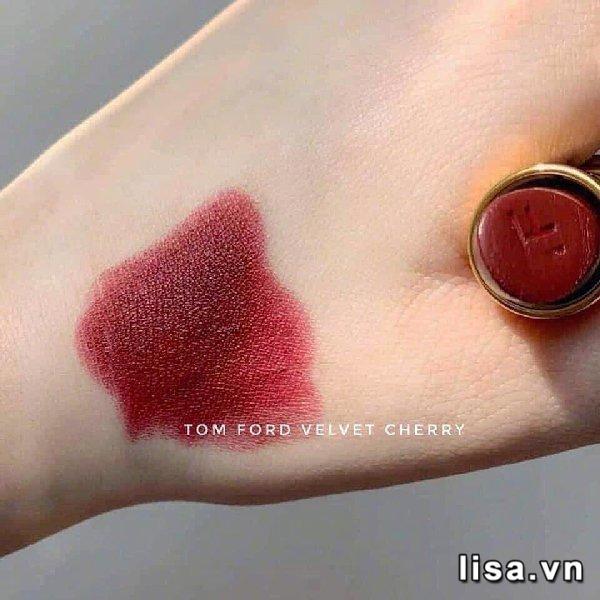 Quà Tặng Bạn Gái Ý Nghĩa Son Tom Ford 08 Velvet Cherry - Đỏ Rượu 1
