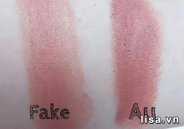 Son 3CE fake lên màu rất nhạt