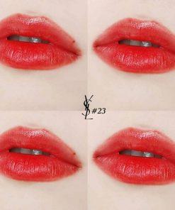 Son YSL Slim 23 Mystery Red có chất son lì mịn hoàn hảo trên môi
