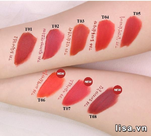 Bộ sưu tập Black Rouge Cotton Lip Color có nhiều tone màu trendy