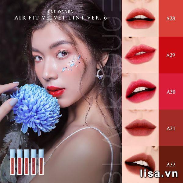 son Black Rouge Air Fit Velvet Tint version 6 có 5 màu, mỗi màu son là một khu vườn đầy hương sắc