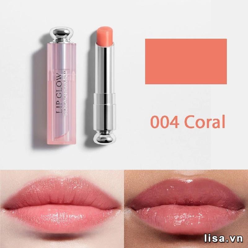 Khả năng bền màu của Dior Addict Lip Glow 004 Coral là 5 tiếng