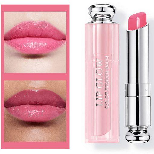 Son Dưỡng Dior Lip Glow Màu 008 Ultra Pink - Hồng Cánh Sen 2