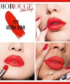 Son Dior Ultra Rouge Màu 777 Ultra Star - Đỏ Cam 6