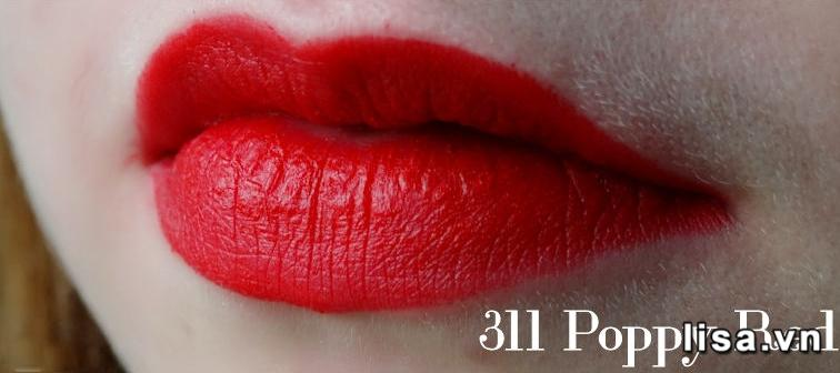 Chất son Kiko 311 Poppy Red mịn môi giàu dưỡng