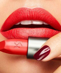 Son KiKo Velvet Passion Matte Màu 309 Tulip Red - Đỏ Cam 6