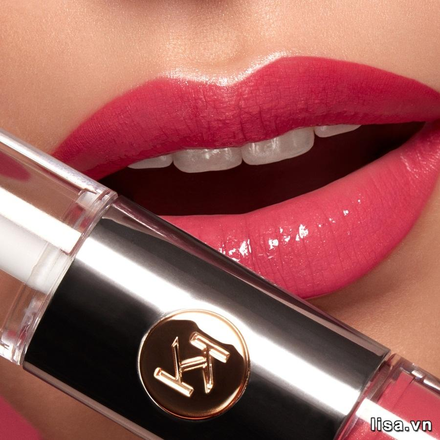 Son Kiko Unlimited Double Touch 110 Spicy Rose mềm mịn như nhung