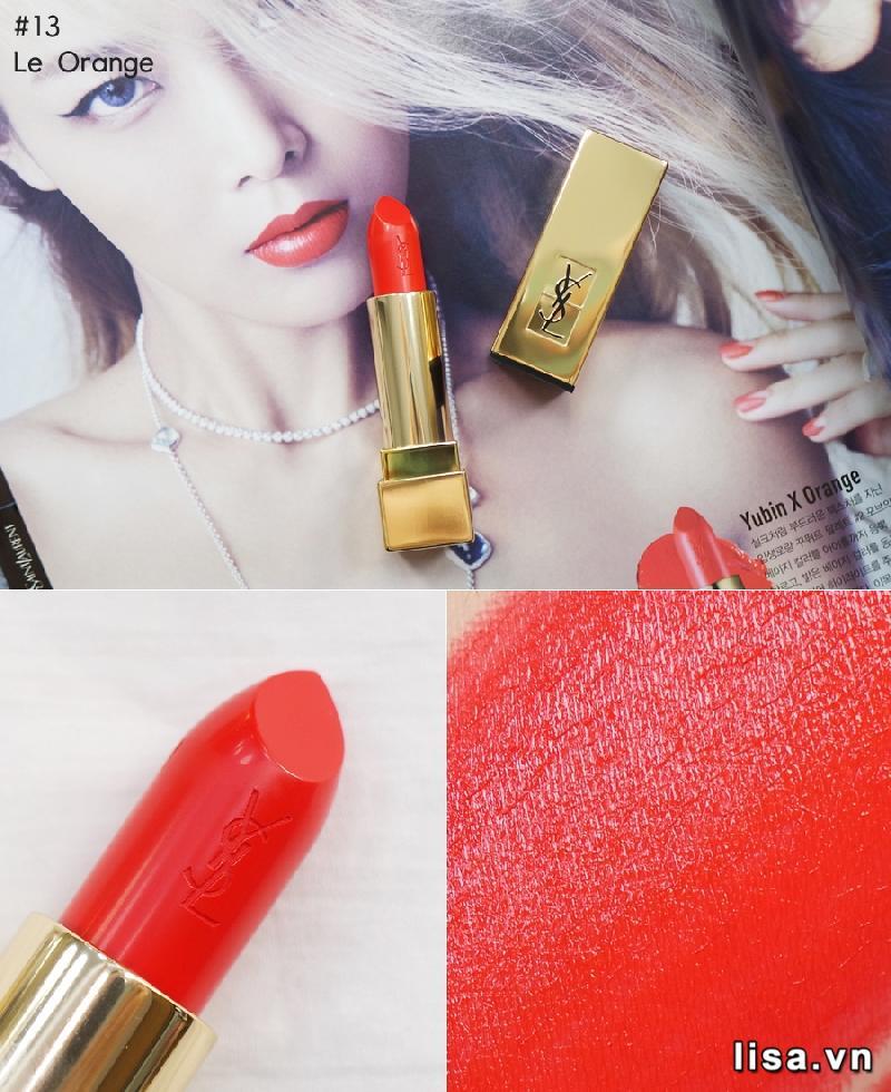 Yves Saint Laurent Rouge Pur Couture 13 có màu đỏ tươi tươi trẻ bật tông