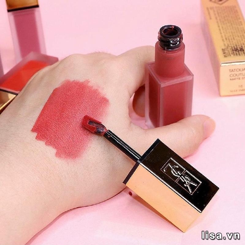 YSL Tatouage Couture Liquid Matte Lip Stain 16 có chất kem lì mịn môi