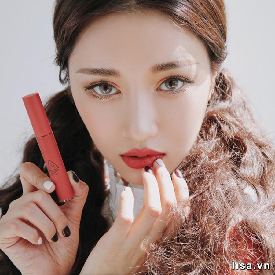 Son 3CE Velvet Lip Tint Màu Daffodil màu đỏ đất thời thượng
