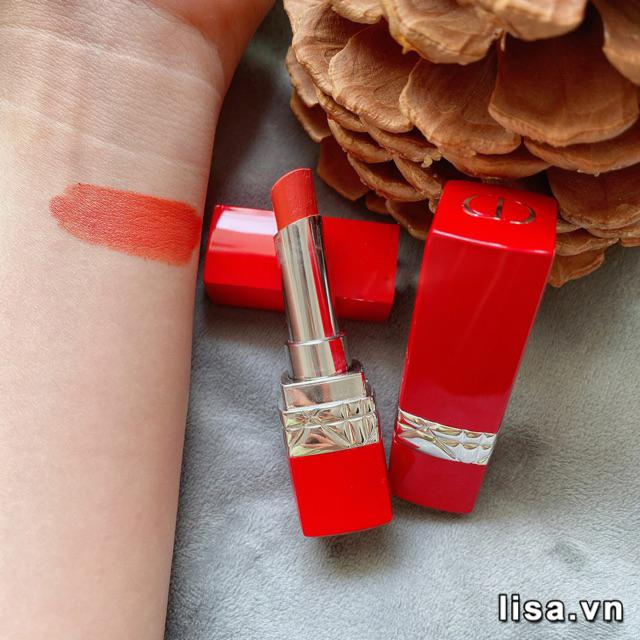 Son Dior Rouge Dior Ultra Care 168 Petal màu cam đất trendy