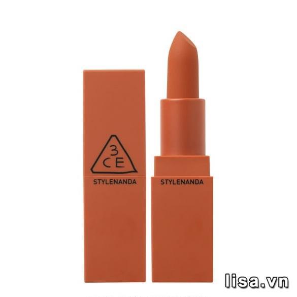 Màu vỏ son 3CE Baked Orange 231 trùng với màu son