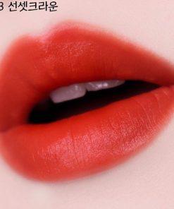 Son Black Rouge Air Fit Velvet Tint Ver 7 Màu A33 Sunset Crown - Đỏ Cam 8
