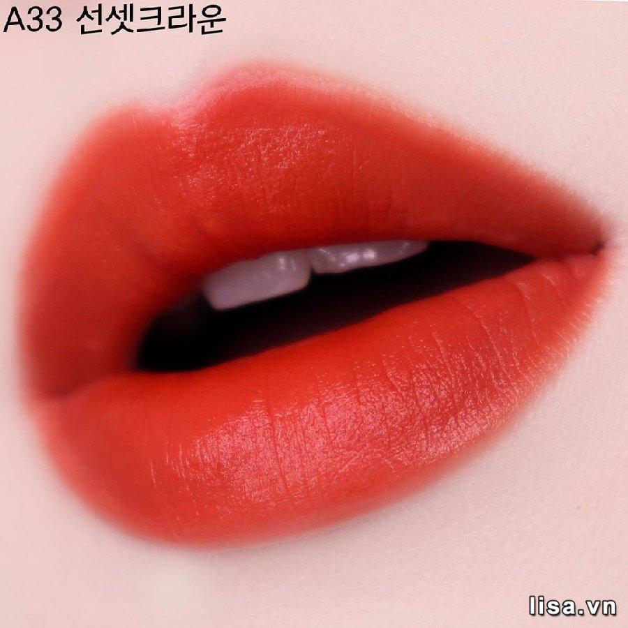 Chất son Black Rouge A33 giàu dưỡng giúp môi mịn màng