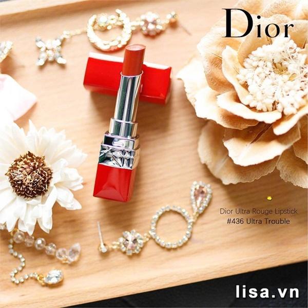 Son Dior Ultra Rouge 436 Ultra Trouble màu đỏ gạch thời thượng