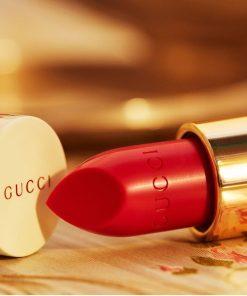 Son Gucci Rouge à Lèvres Voile Màu 302 Agatha Orange - Cam Đỏ 6