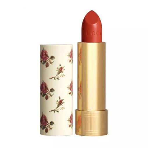 Son Gucci Rouge à Lèvres Voile Màu 302 Agatha Orange - Cam Đỏ 1