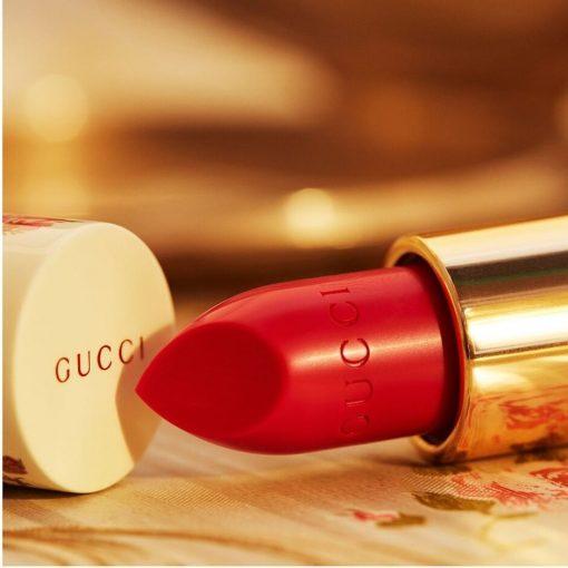 Son Gucci Rouge à Lèvres Voile Màu 302 Agatha Orange - Cam Đỏ 2