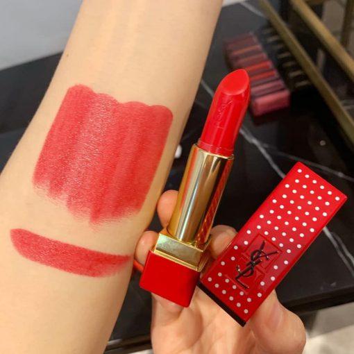 Son YSL Rouge Pur Couture Stud Edition 01 Le Rouge - Đỏ Tươi (Bản Đặc Biệt) 3