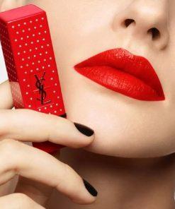 Son YSL Rouge Pur Couture Stud Edition 13 Le Orange - Đỏ Cam (Bản Đặc Biệt) 6