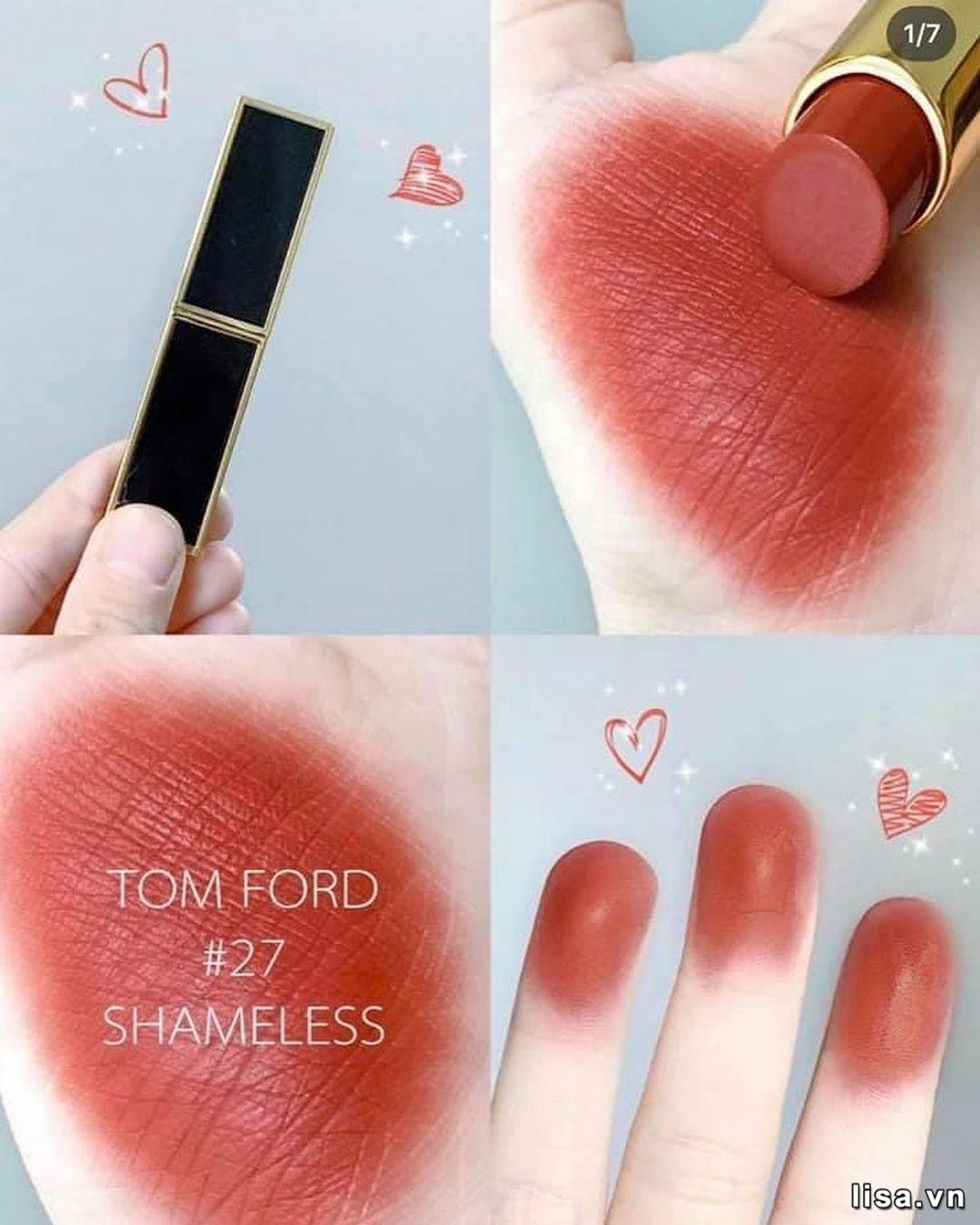 Son Tom Ford Lip Color Satin Matte 27 Shameless lành tính