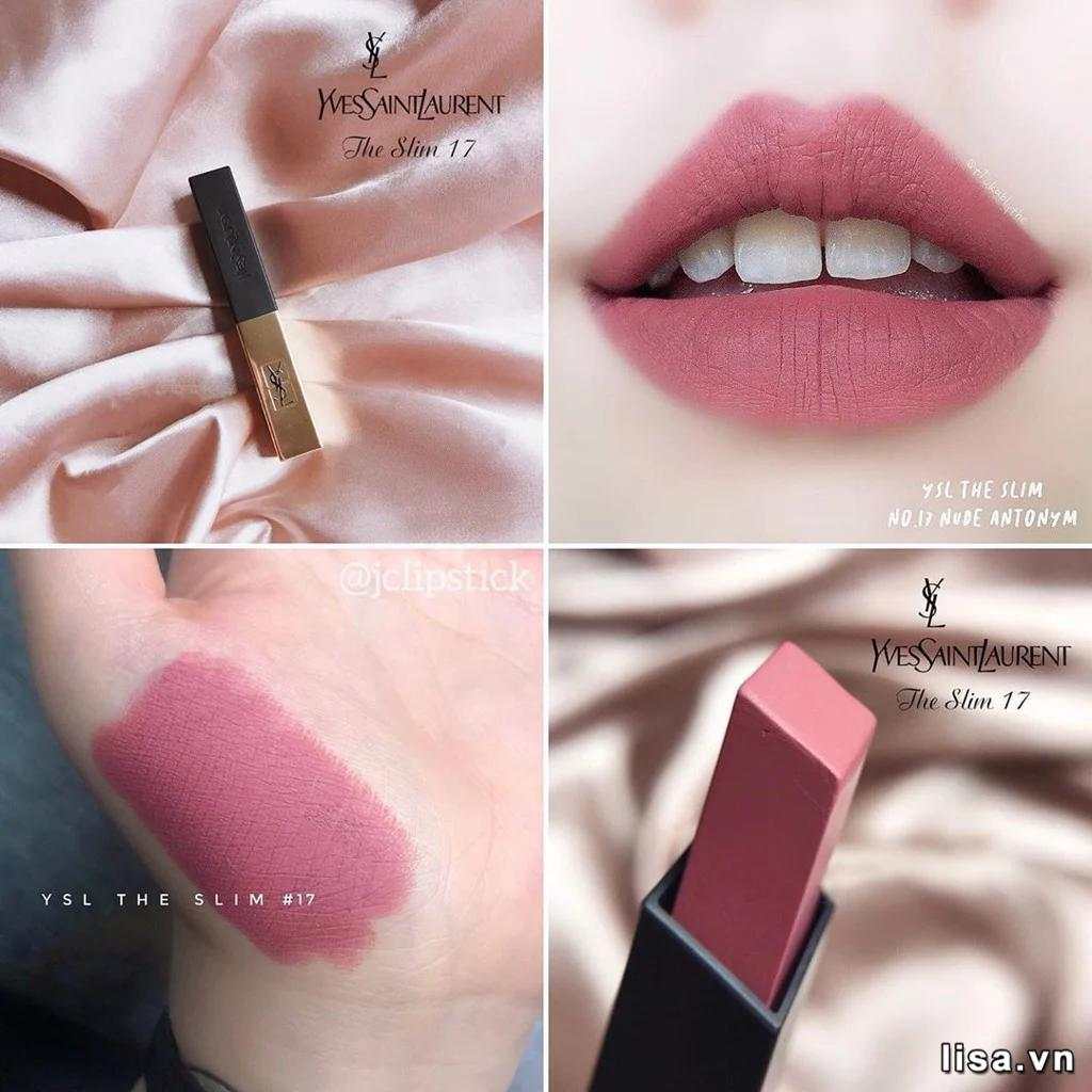 Son YSL Rouge Pur Couture The Slim 17 Nude Antonym lì mịn môi