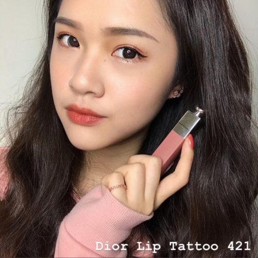 Son Dior 421 Lip Tattoo Natural Beige hợp với nhiều tông da