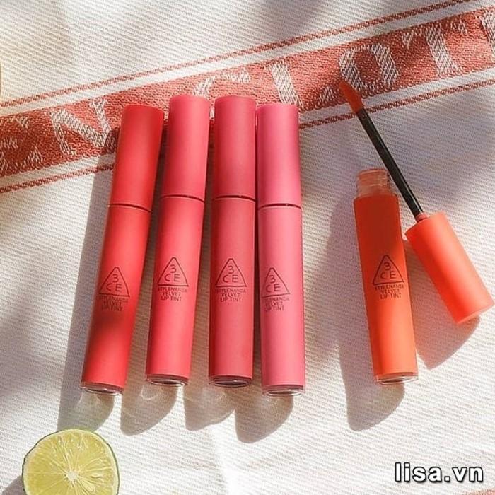 BST son 3CE Velvet Lip Tint