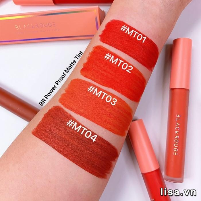 BST Black Rouge All Day Power Proof Matte Tint gồm 4 tone rực rỡ