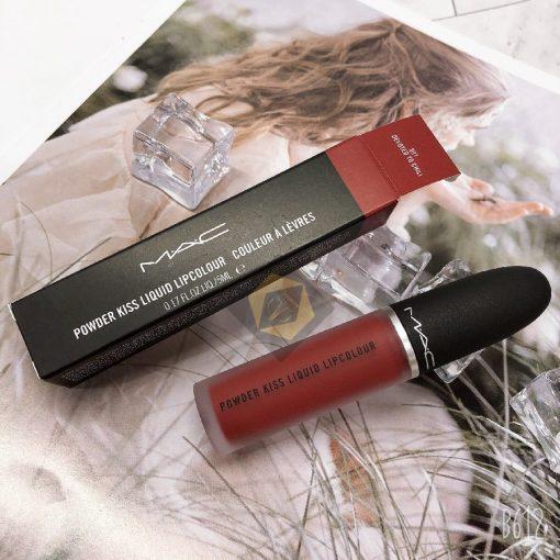 Son Kem Mac Powder Kiss Liquid Màu 991 Devoted To Chili - Đỏ Gạch 2