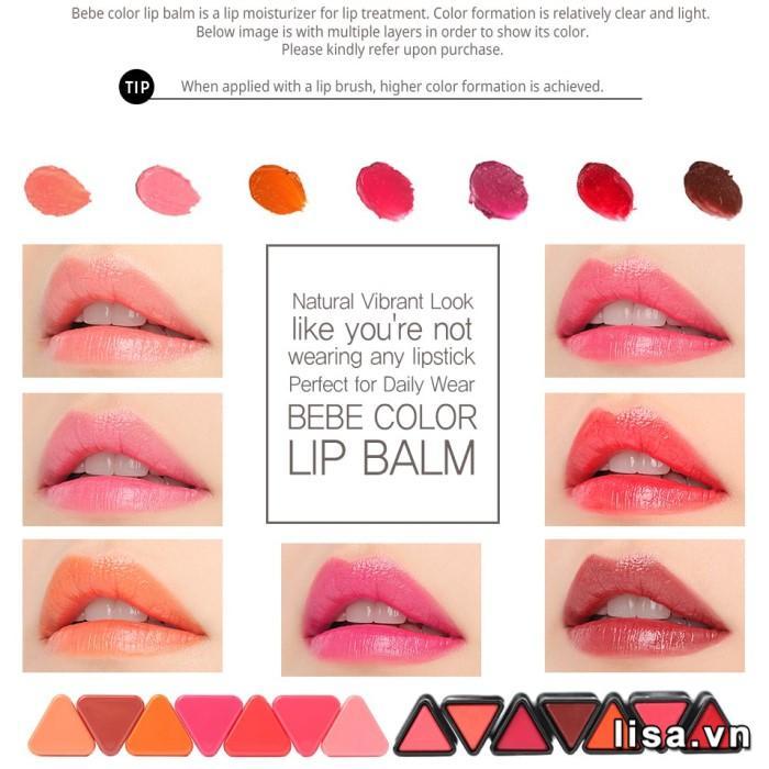 Son môi 3CE Bebe Color Lip Balm
